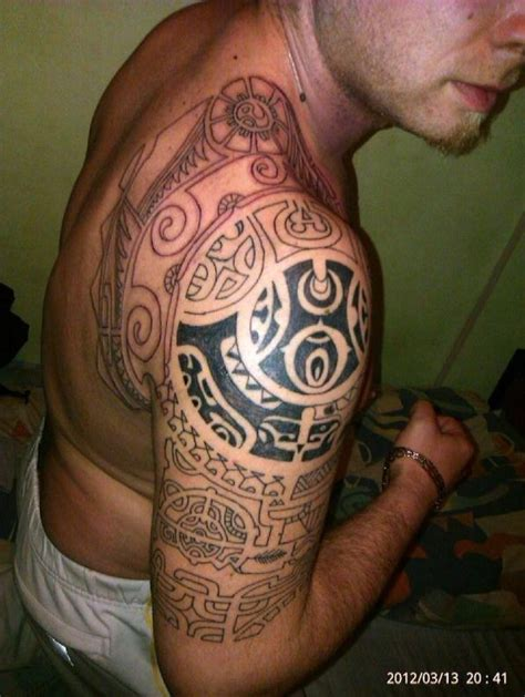 no good tattoo looking maori tribal arm inspiration