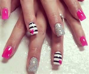 pink and black nails art nail art pinterest