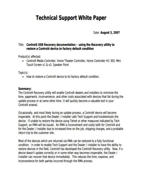 38 Sle White Paper Templates Free Premium Templates White Paper Format Template