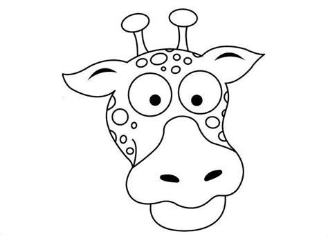 printable giraffe mask template animal mask template animal templates free premium