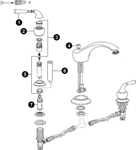 diagram of bathtub faucet moen faucet parts diagram kitchen