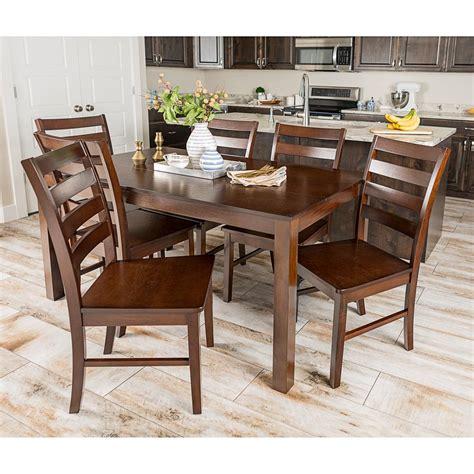 dining room furniture sets tables chairs servers walker walker edison furniture company homestead 7 piece walnut