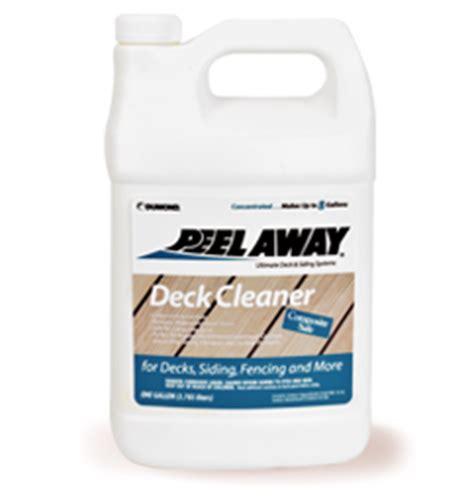 dumond peel  deck cleaner log wood cleaners