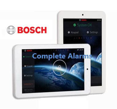warehouse factory security package complete alarms sydney bosch touchone touch screen keypad complete alarms sydney