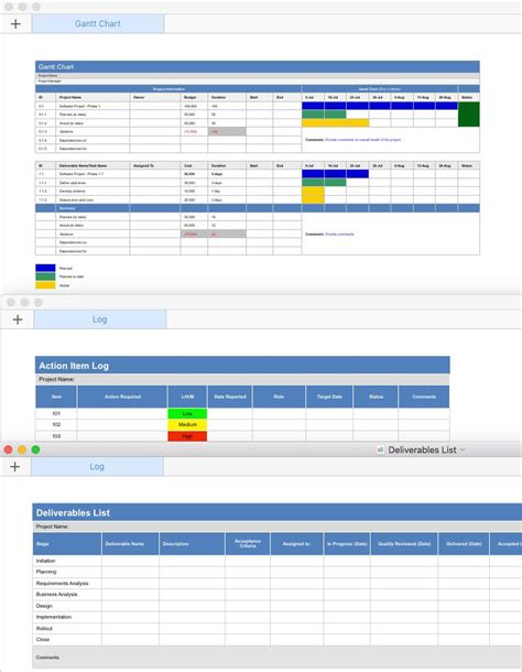 gantt chart template for mac project plan template apple iwork pages and numbers