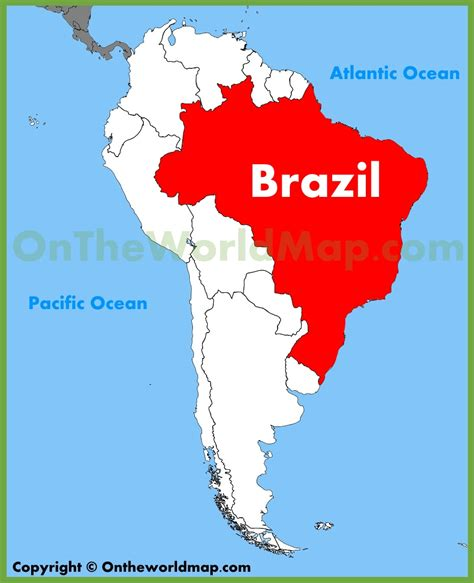 south america map brazil brazil location on the south america map