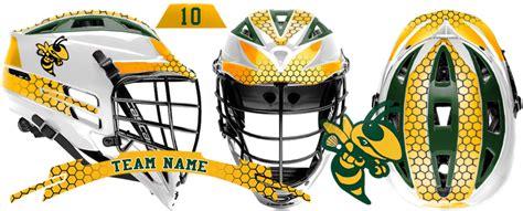 design lacrosse helmet decals lacrosse helmet hornets team design decal sets by