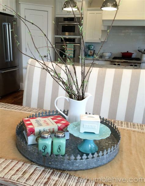table decor everyday table centerpiece kitchen inspiration kitchen decor ourhumblehive