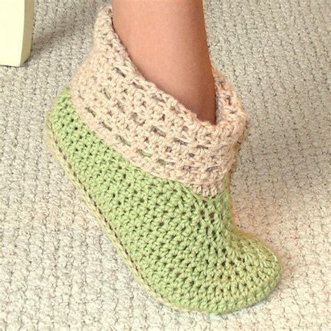 crochet pattern womens slippers crochet pattern cuffed boots slippers in women and kids