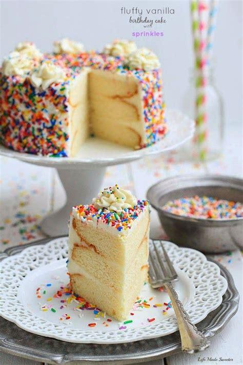 vanilla sponge birthday cake recipe fluffy vanilla birthday cake with sprinkles recipe