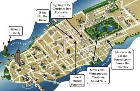 map of ny attractions image gallery new york sightseeing map