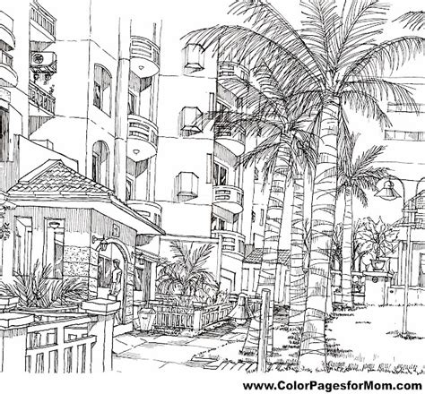 printable coloring pages for adults houses free coloring pages of adult houses