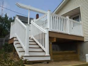 Outside Stairs With Landing by Deck Designs Deck Stairs With Landing Design