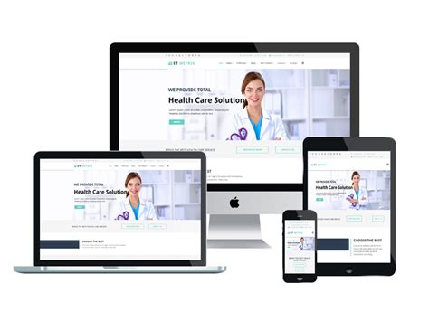 et metrix free responsive healthcare medical joomla