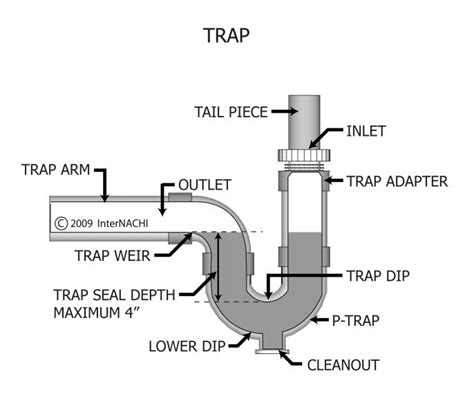 P Traps Plumbing by Charleston Home Inspector Discusses Plumbing Traps Arms