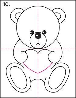 valentines teddy drawing how to draw a teddy tutorial paperblog