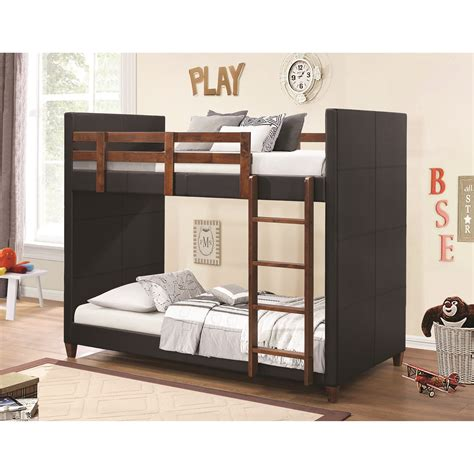 coaster furniture bunk bed coaster bunks 460375 twin over twin bunk bed with black