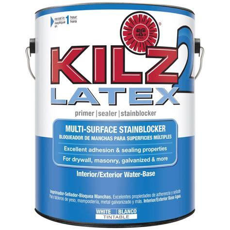 water based paint based primer kilz 2 1 gal white water based interior exterior