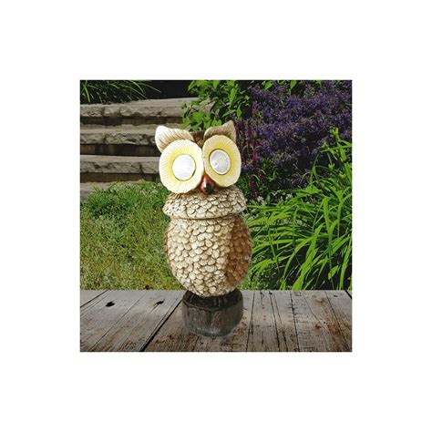 solar powered owl light owl solar lights for garden solar powered led moving owl
