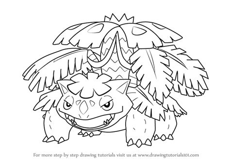 pokemon coloring pages mega venusaur learn how to draw mega venusaur from pokemon pokemon