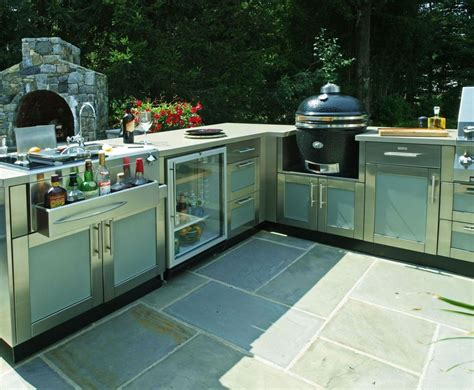outdoor kitchen design center this large l shaped outdoor kitchen design includes