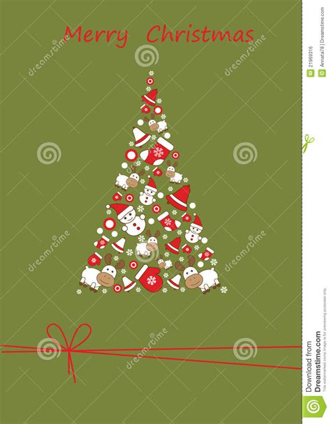 christmas tree greetings card royalty free stock image