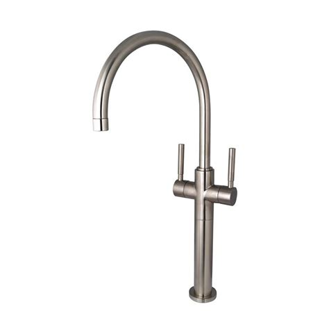 single hole two handle bathroom faucet shop elements of design concord satin nickel 2 handle