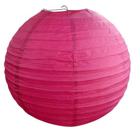How To Make Circle Paper Lanterns - 10 quot fuchsia paper lantern even ribbing hanging