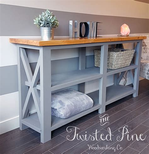 rustic x console table rustic x console table the twisted pine woodworking co