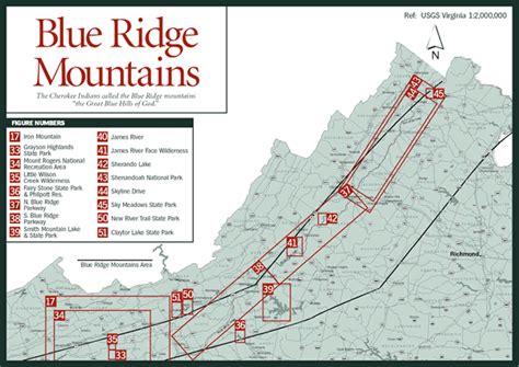 blue ridge mountains map sherpa guides virginia mountains blue ridge mountains