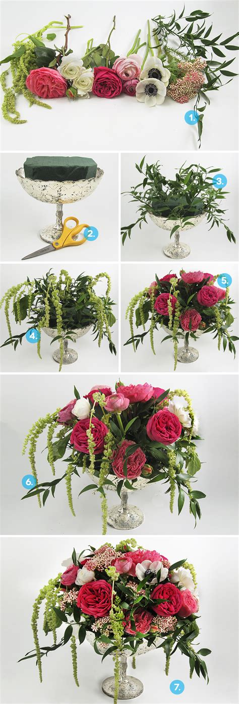 diy flower arrangements how to create a diy anemone centerpiece
