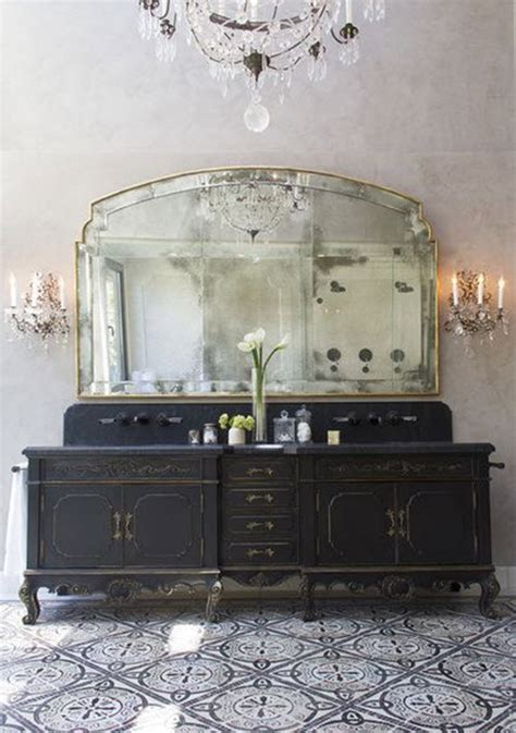inspired yet again sconces chandeliers and mirrors oh my 35 vintage black and white bathroom tile ideas and pictures