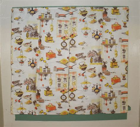 Vintage Kitchen Curtains Vintage Kitchen Curtains 1950s One Pair By Seamsoriginal