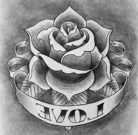 rose and banner tattoos designs with banner www pixshark