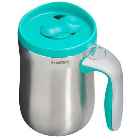 Aladdin Migo Travel Mug   16 oz., Stainless Steel   Save 39%