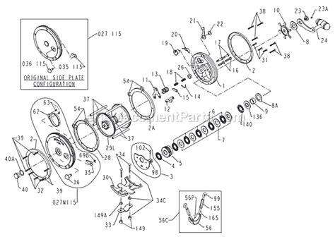 penn reel parts diagram penn 115l parts list and diagram ereplacementparts