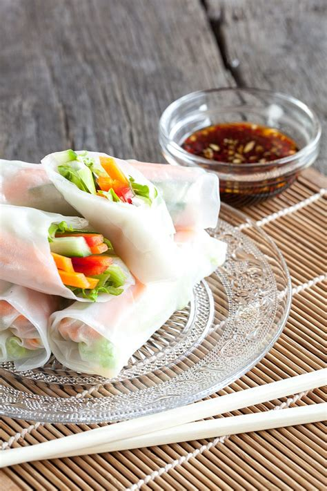 How To Make Vegetarian Rice Paper Rolls - vegetarian rice paper rolls ohmydish