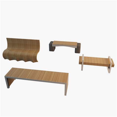 bench model 3d bench model turbosquid 1158033
