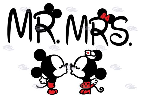 disney mickey minnie mouse mr mrs cute kiss matching