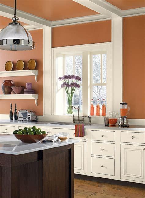 verbrannt orange farbe farben welche wandfarbe f 252 r k 252 che 55 gute ideen und beispiele