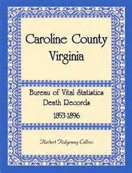 Prince George S County Marriage Records Caroline County Virginia Bureau Of Vital Statistics Records 1853 1896