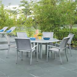 Hexagonal Patio Table 7 Kendall Sling Dining Set With Hexagon Table From Telescope Casual