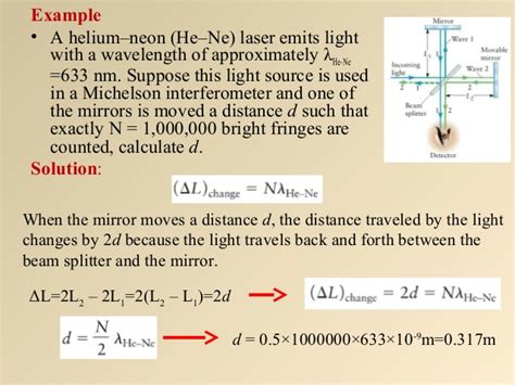 light from a helium neon laser light from a helium neon laser λ 633 nm