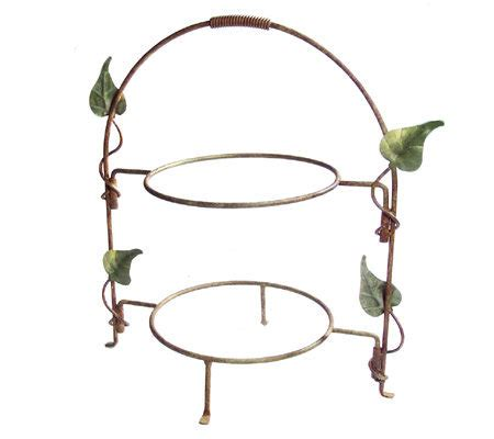 buffet plate stand leaf wrought iron buffet plate stand by valerie qvc