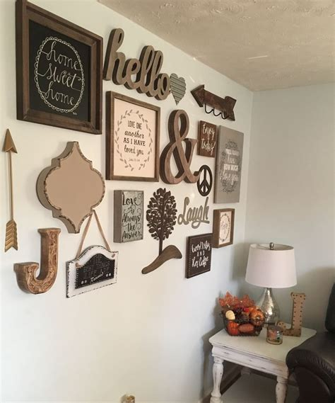 ideas  rustic gallery wall  pinterest