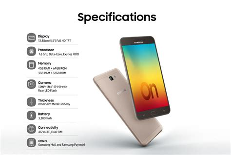 samsung o 7 samsung galaxy on7 prime galaxy on7 prime mobile specifications features at in