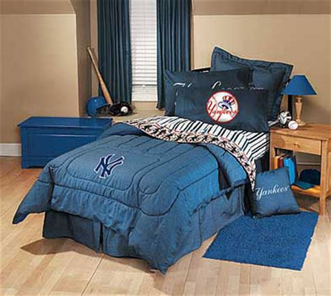 new york yankees bedding new york yankees team denim queen size comforter sheet set