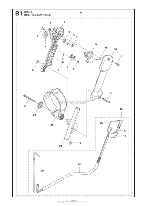 husqvarna bts   parts diagram  throttle controls