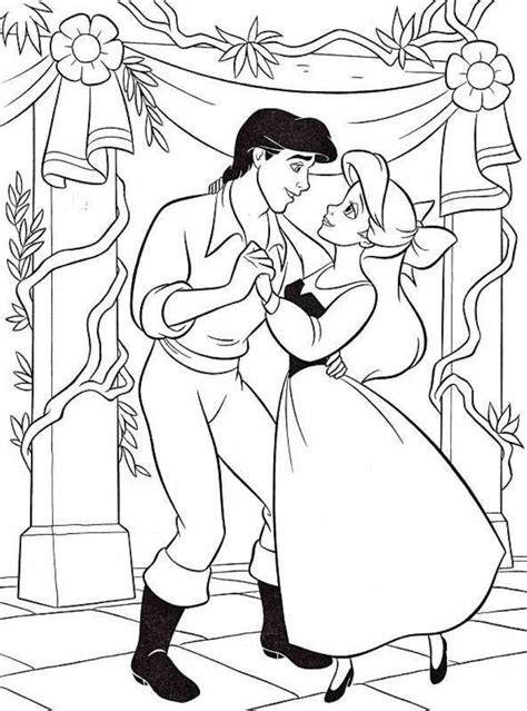 Printable Little Mermaid Coloring Pages Coloring Me Ariel And Eric Coloring Pages
