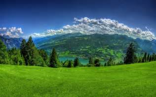 Beautiful Sites by Beautiful Places Images Grassy Field Distant Mountains Hd